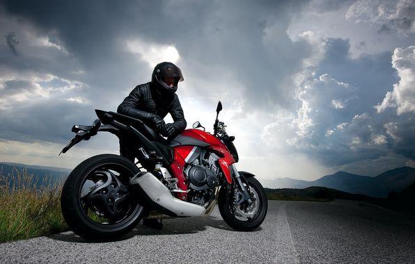 Wallpaper Motorcycle Racer Road Nature Sky Clouds Motorcycle Wallpaper Honda Cbr Motorcycle