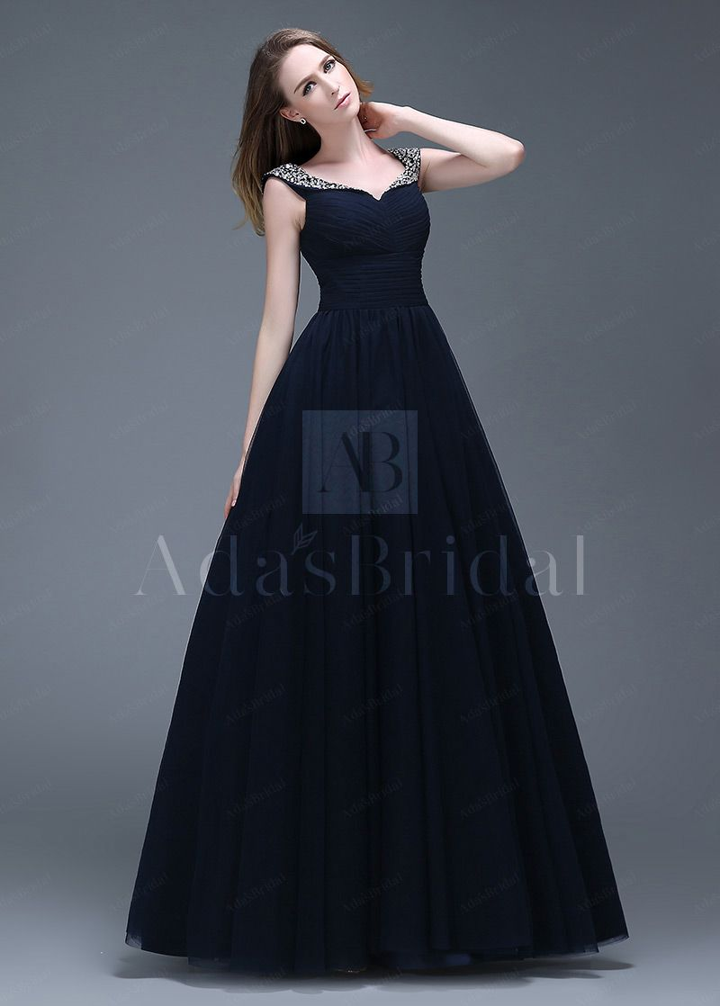 wonderful tulle vneck neckline fulllength aline prom