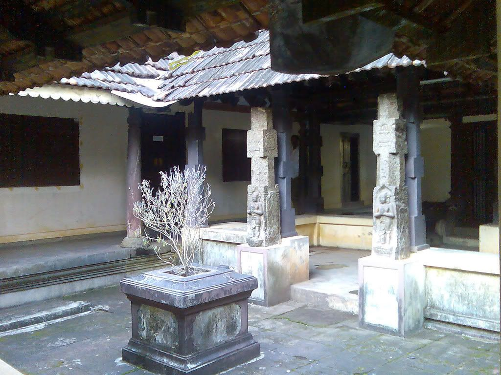 Inner quadrangle of a nalukettu or traditional house for Traditional kerala houses pictures