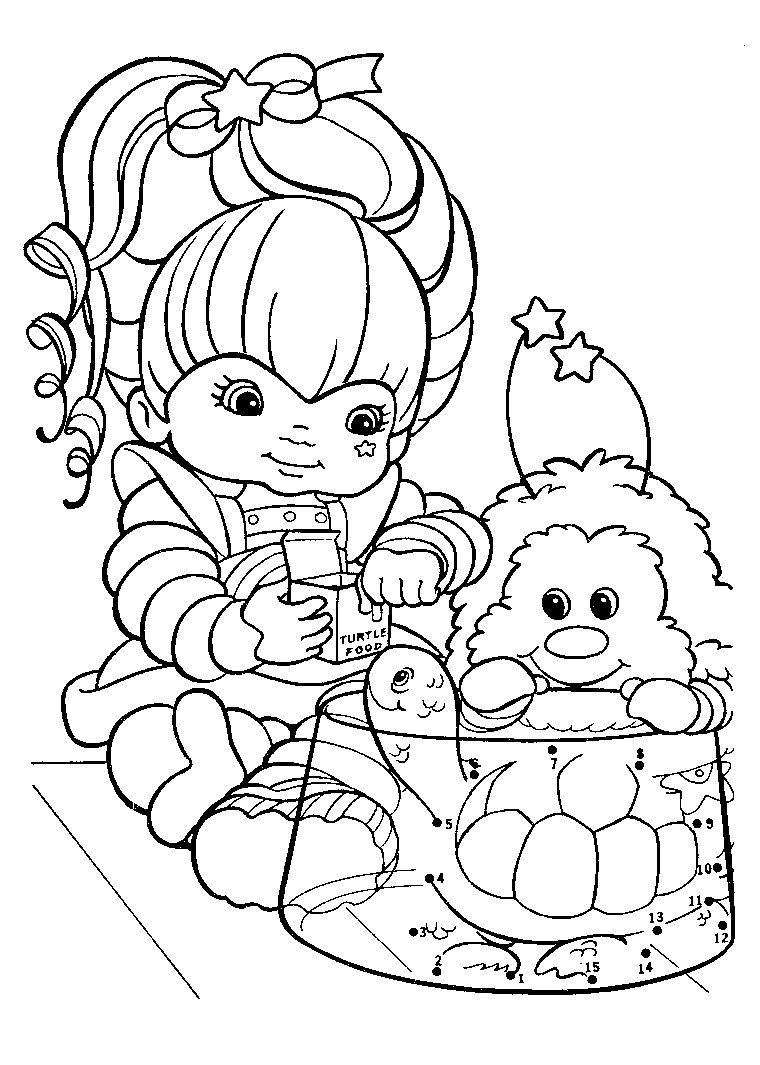 Rainbow Brite Coloring Pages Kid Memories Pinterest Coloring