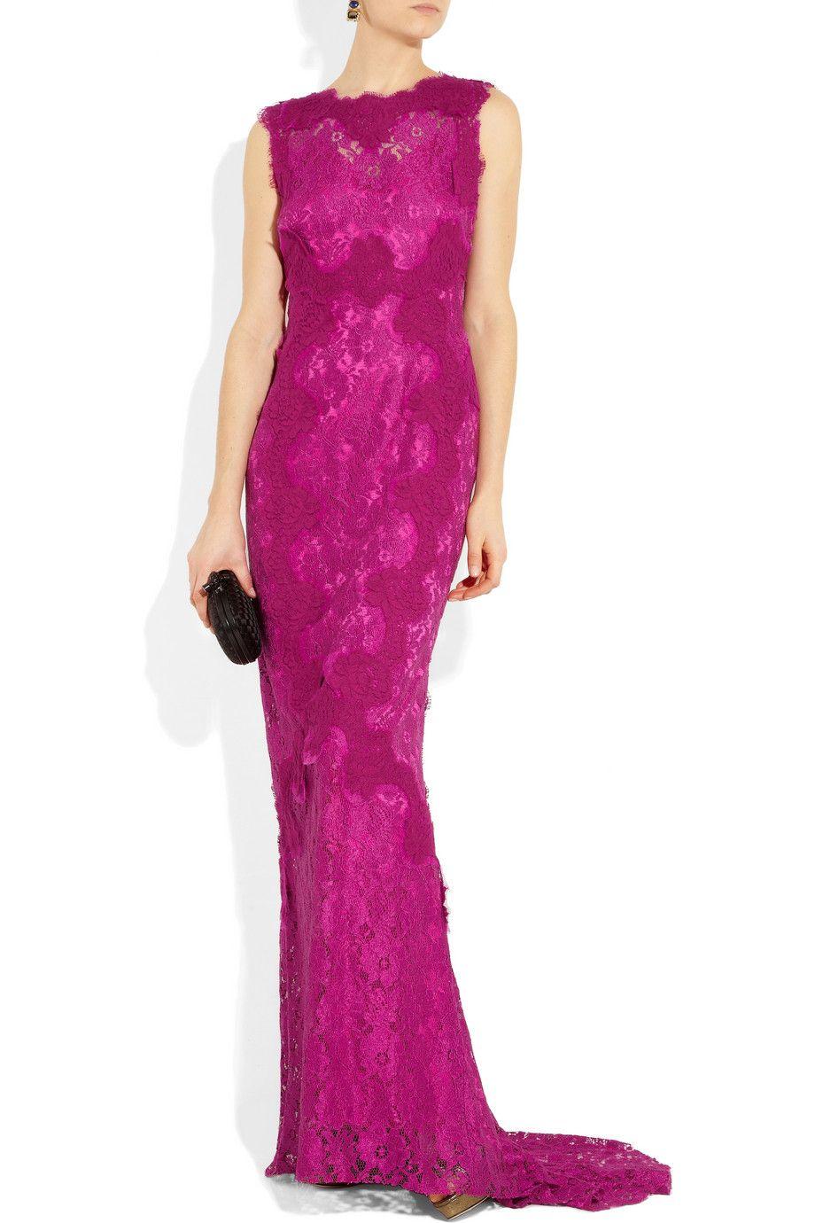 beautiful! Dolce Gabbana | Open-back lace gown | NET-A-PORTER.COM ...
