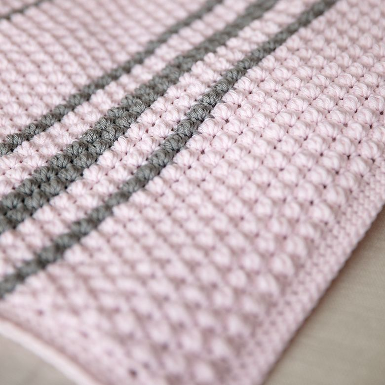 Bobbles and Stripes Crochet Baby Blanket Pattern | Crochet baby ...