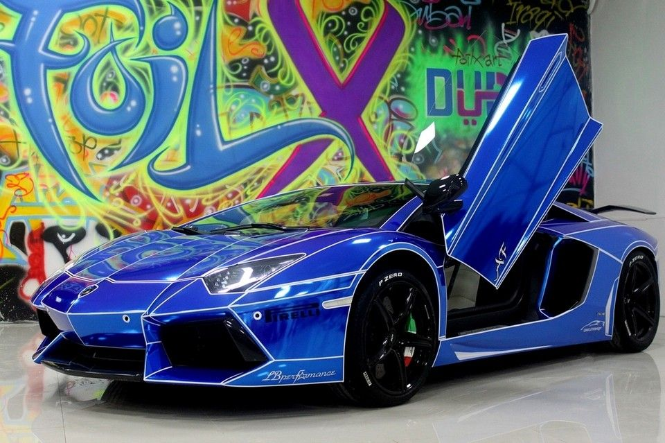 the trend of car foil wrapping in pictures