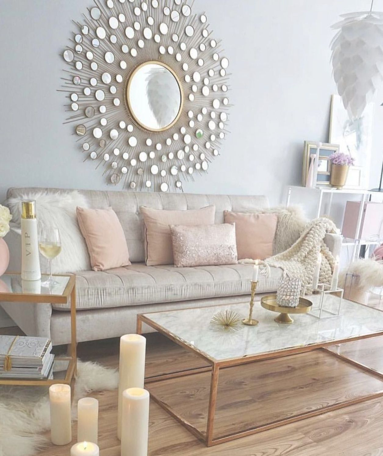 marble and gold metal coffee table living room decor