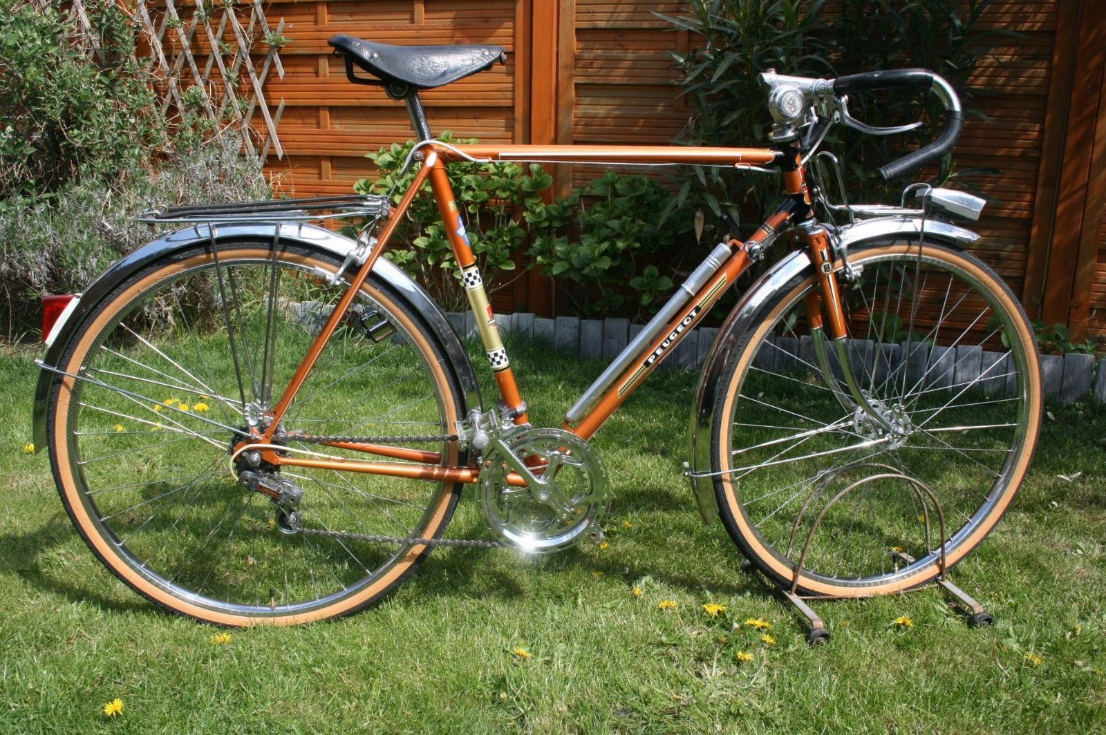 velo randonneur peugeot px 50 l old bike altes fahrrad 1975 wheels 650b eroica fotos. Black Bedroom Furniture Sets. Home Design Ideas