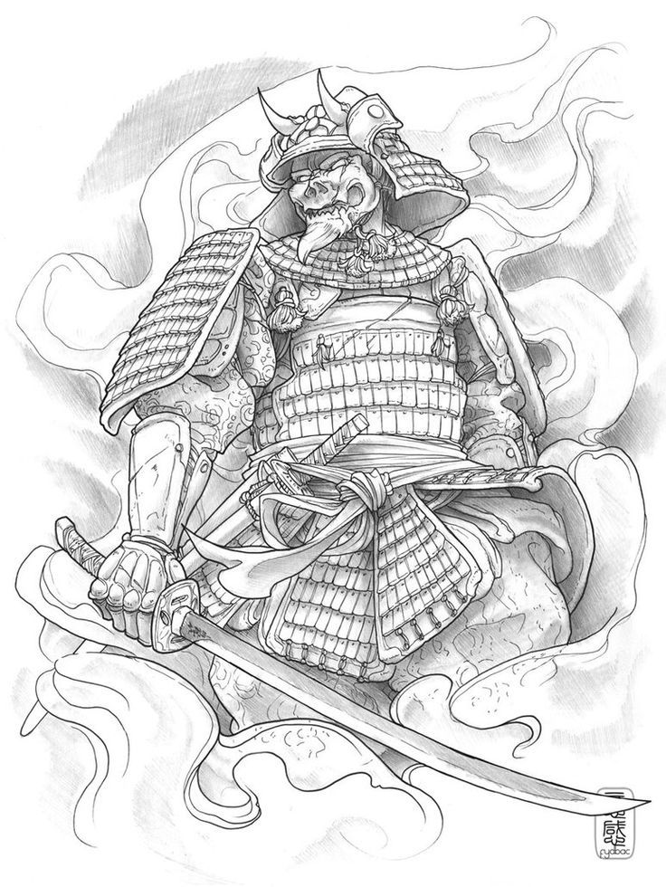 Japanese Samurai Warrior Tattoo Design Photo 1 Samurai Desenho