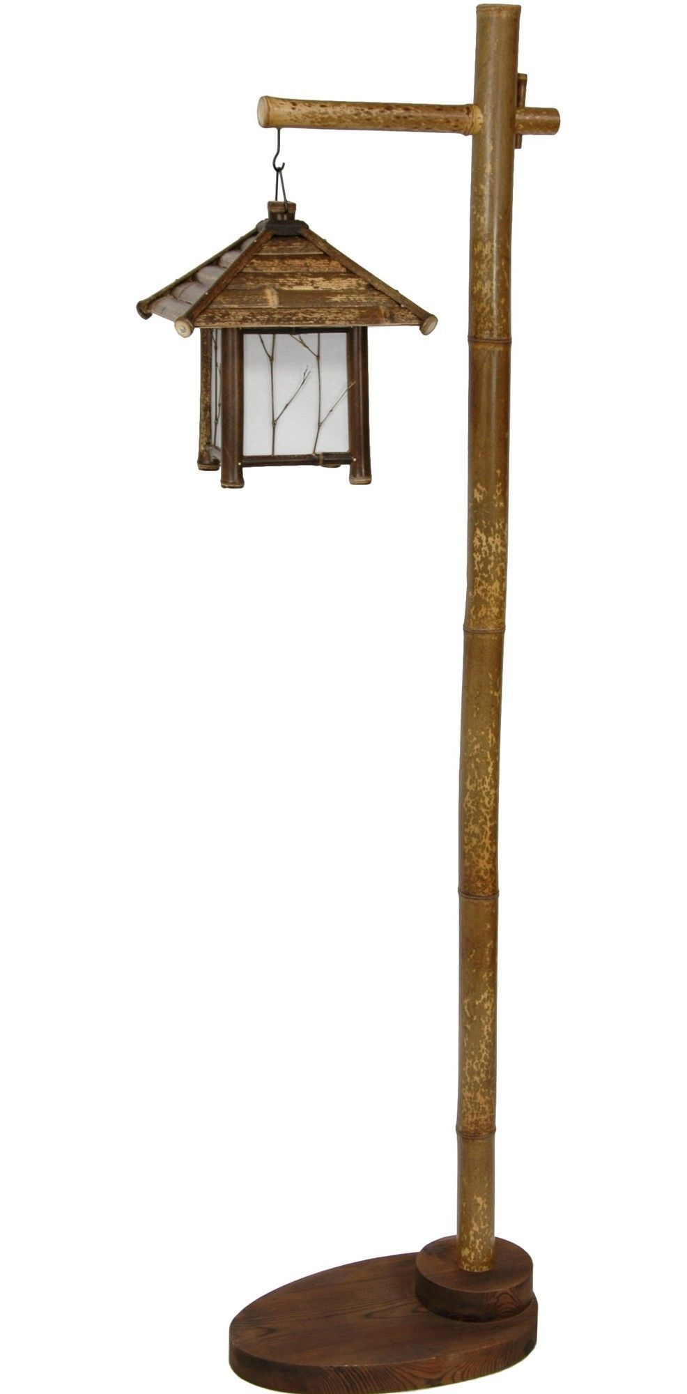 Features Wood And Bamboo Hanging Lantern Stand Ul Approved Wiring A Light Socket American Chord Switch Provides Distinctly Asian Decorative Lighting Solution Authentic Frame S