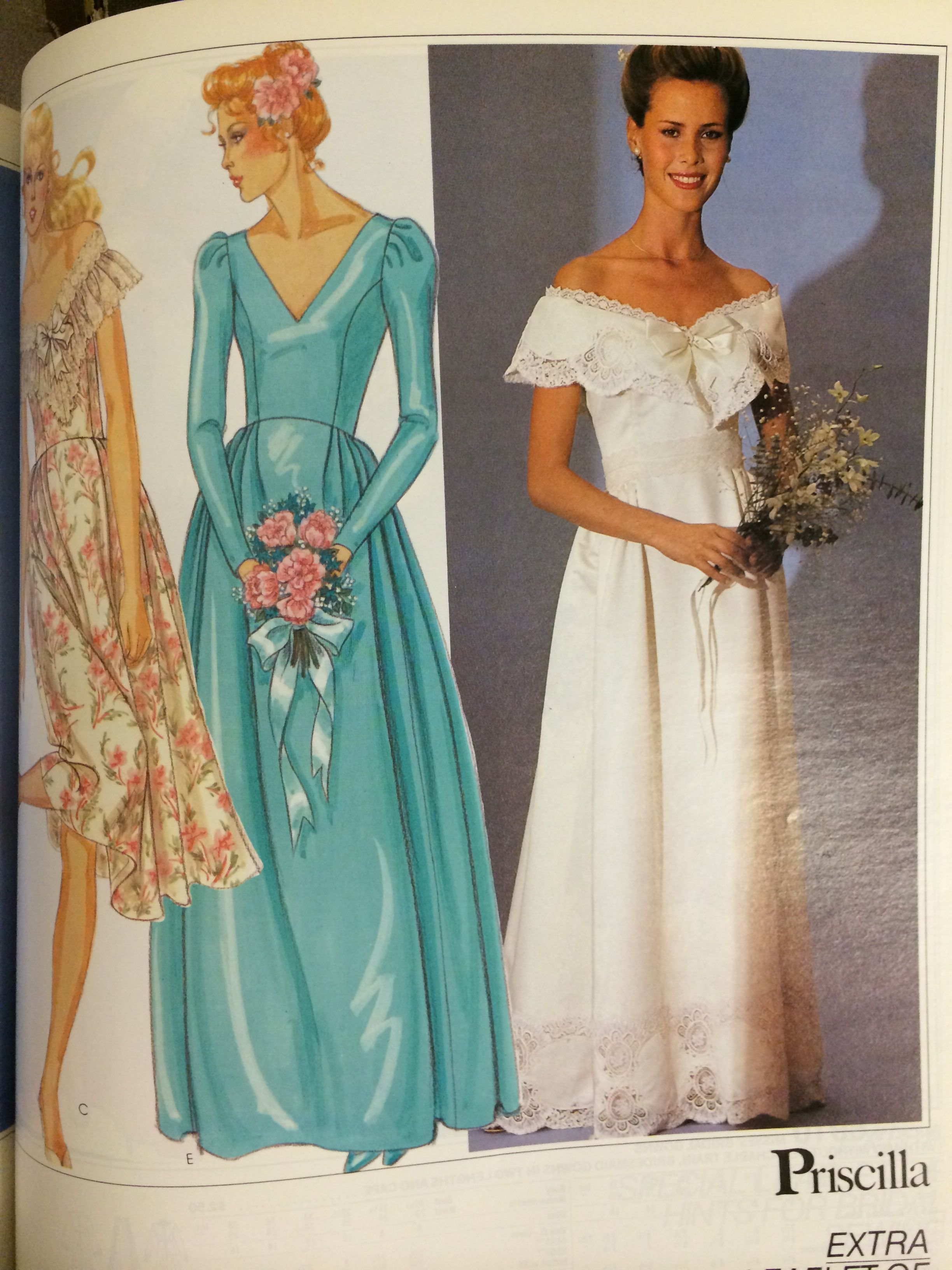 Wedding gown pattern from a 1982 mccall 39 s catalog for Mccall wedding dress patterns