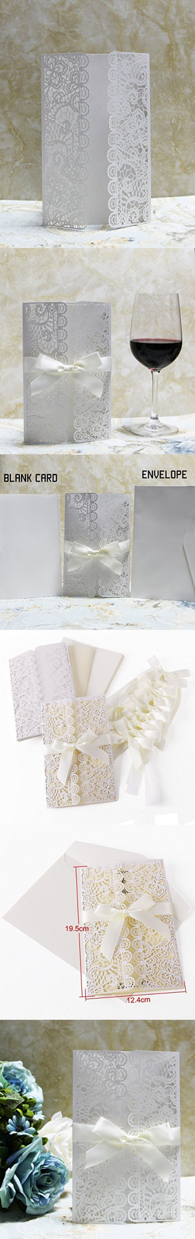 20PCS White Flower Place Table Name Glass Cards Postcards Bookmark ...