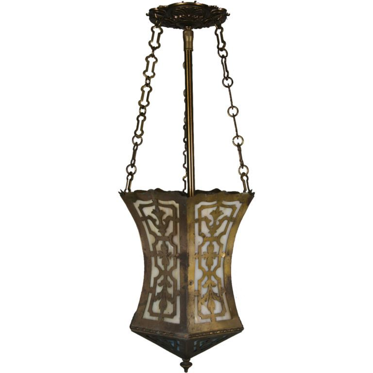 Arts and craft pierced hanging lantern chandeliers and
