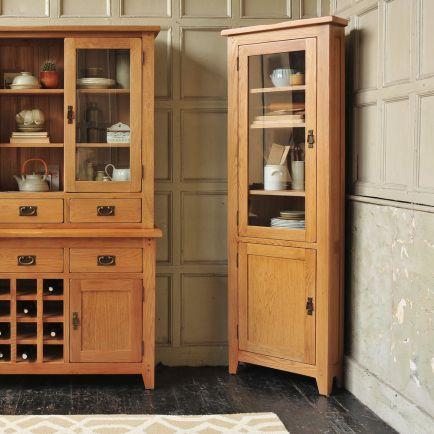 Pin On Rustic Oak, Kitchen Unit Display Cabinet