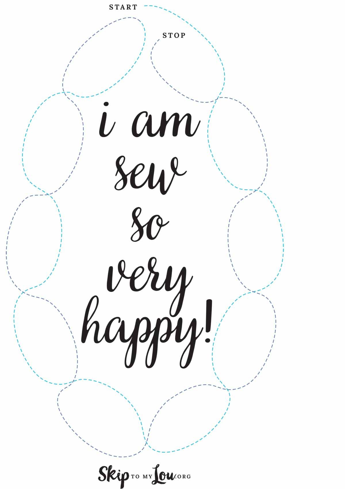 Sew Happy Sewing Sheet With Images