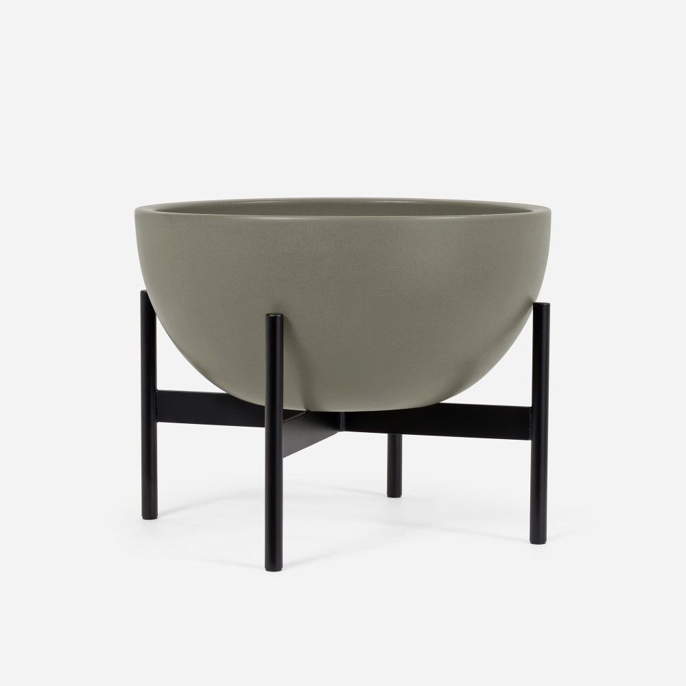 Modernica Case Study® Ceramic Bowl Pot with Metal Stand