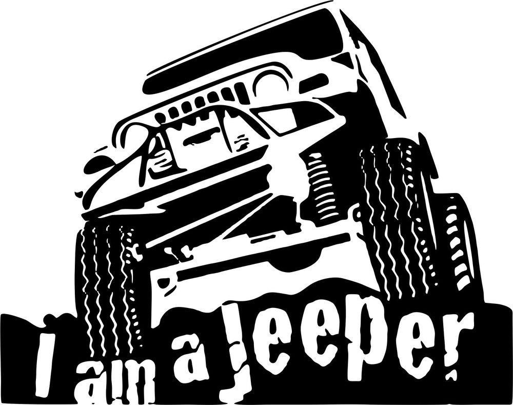Jeep Jeeper Off Road Rock Climbing Car Truck Window Wall Vinyl