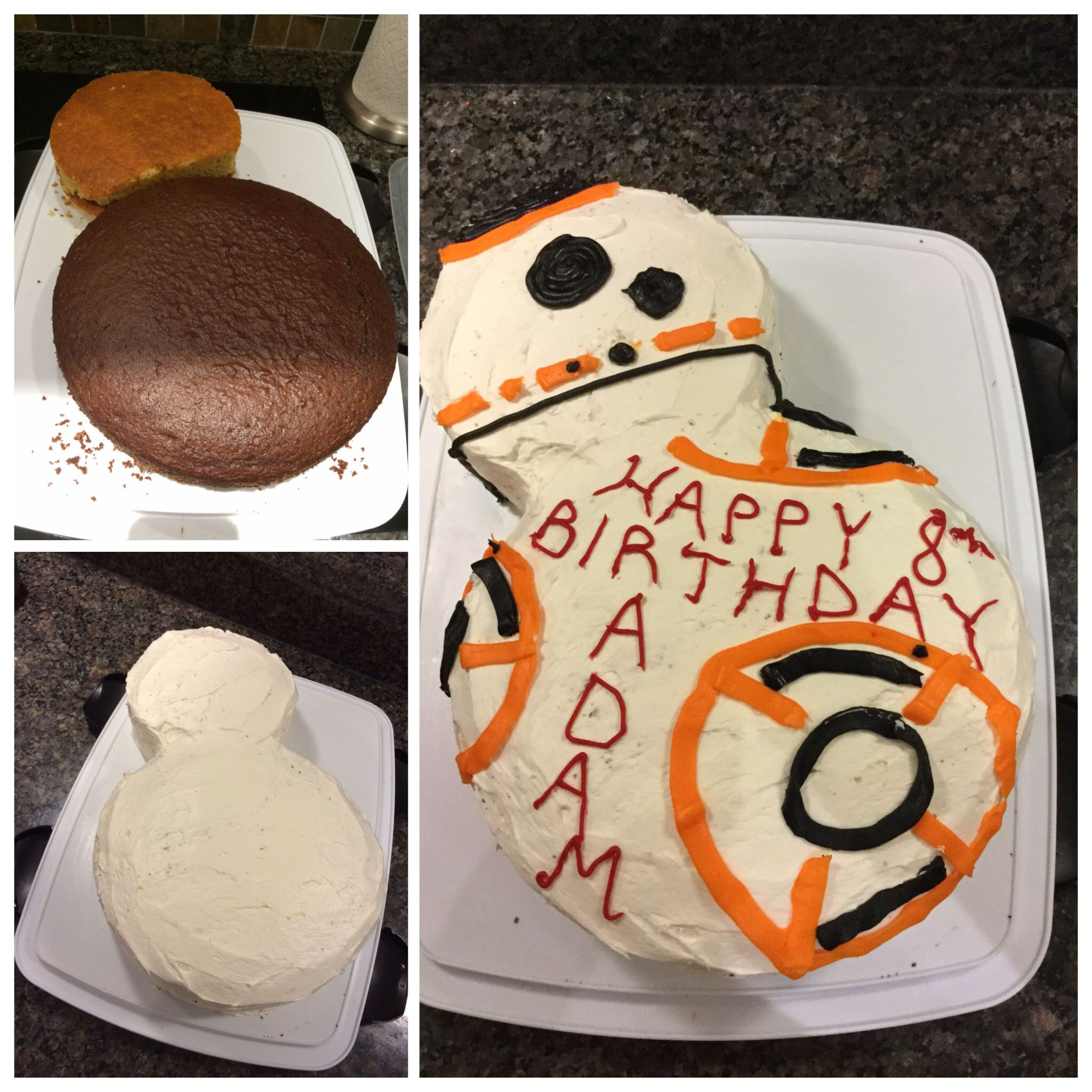 Easy Birthday Cake To Make Your BB-8 Fan Happy.