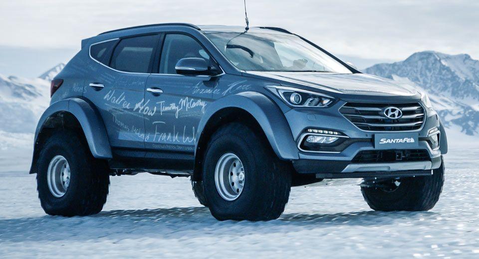 Souped Up Hyundai Santa Fe Drives Across Antarctica Hyundai Cars