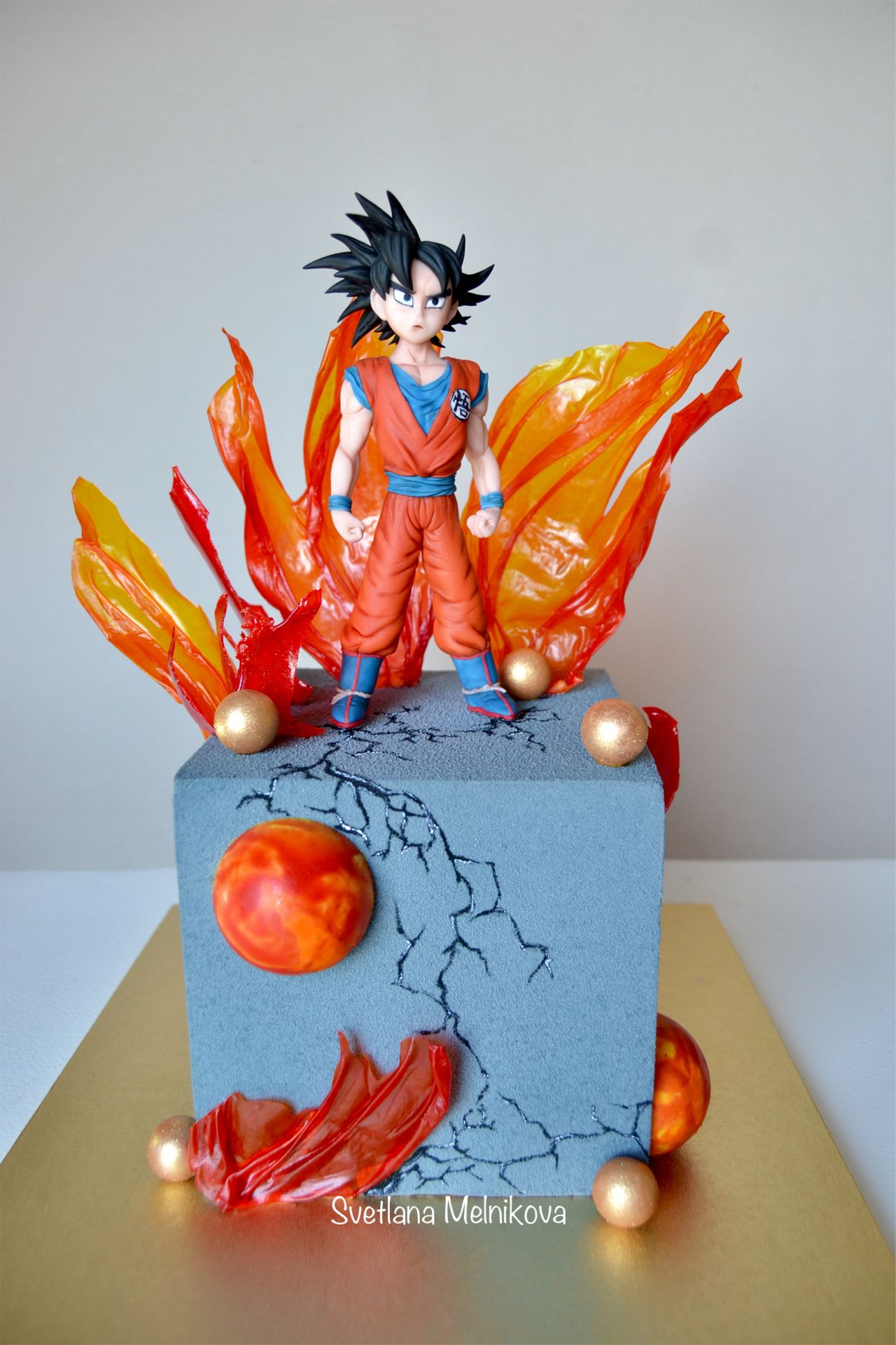 Cake Dragon Ball Z Torta De Goku Torta De Anime Tartas