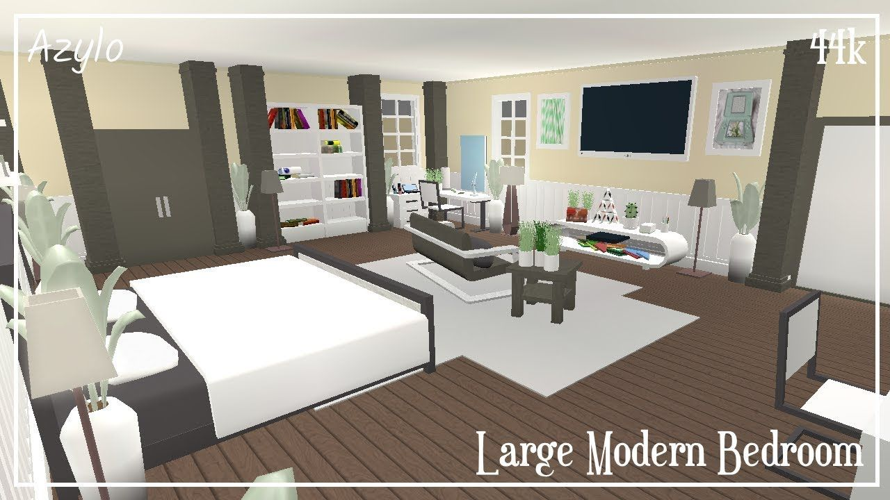 Roblox Bloxburg Large Modern Bedroom 44k Youtube In 2020 Modern Bedroom Aesthetic Bedroom Cute Bedroom Ideas