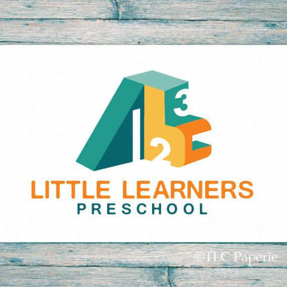 Preschool Logo Nursery Logo Daycare Logo Childrens Logo
