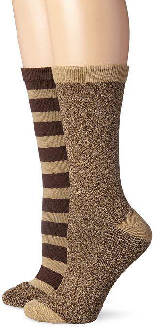 1d64865dc1f Steve Madden Legwear Women s 2 Pack Stripe Marl Boot Sock