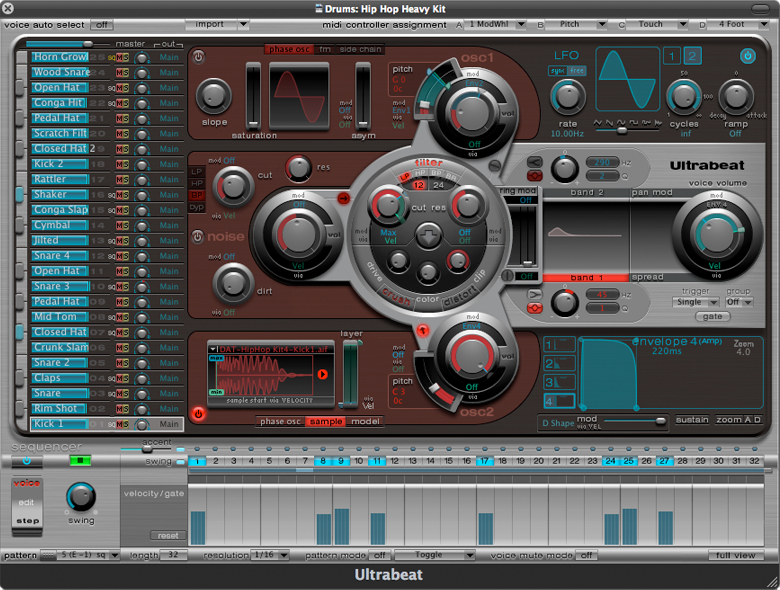 Ultrabeat By Apple One Of The Best Drum Synths Ive Ever Worked