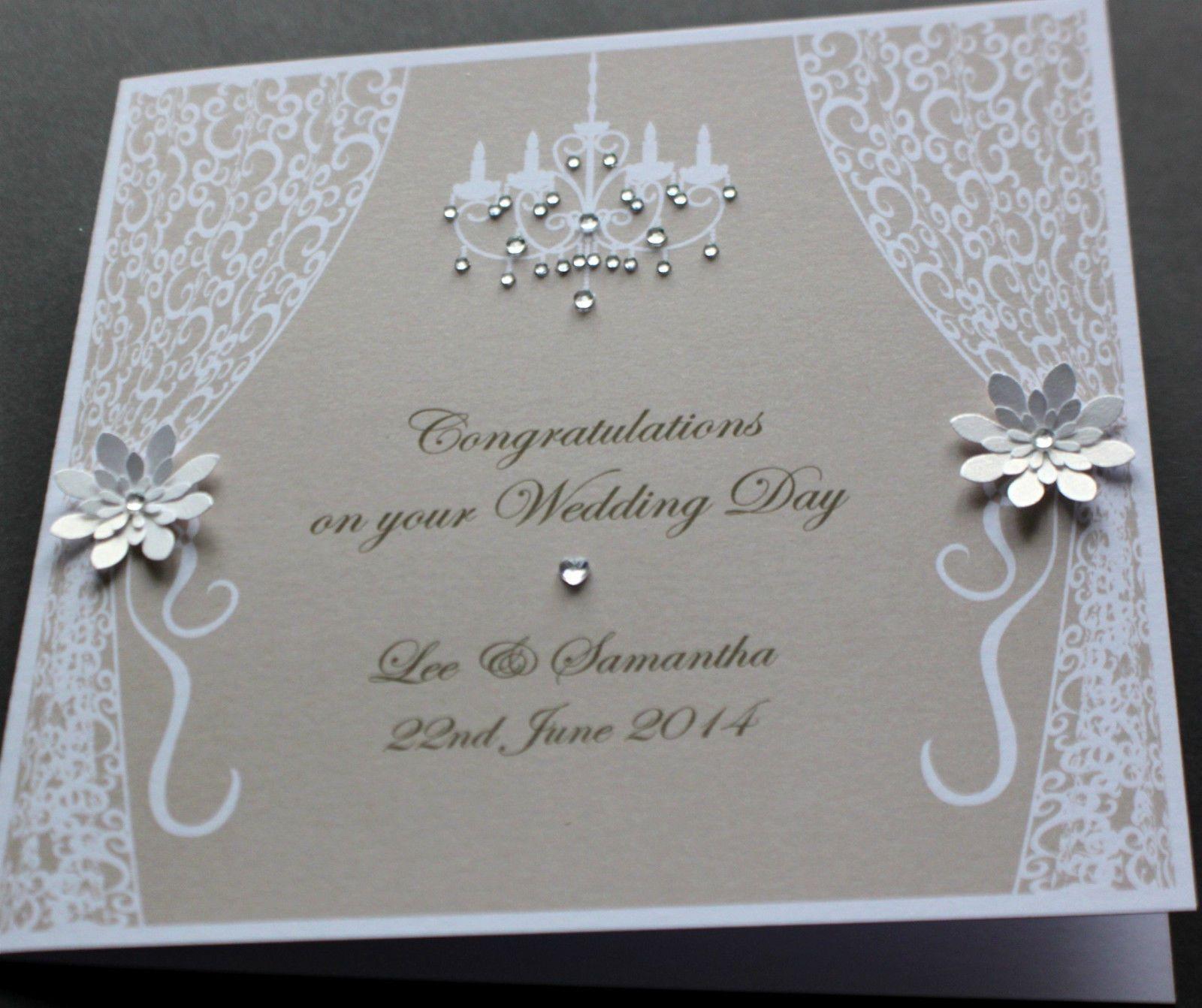 Handmade Personalised VINTAGE STYLE Congratulations Wedding Card 450 Anniversary CardsWedding