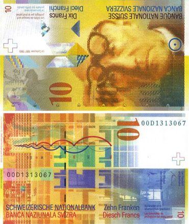 Switzerland 10 Francs P-67d UNC 2013