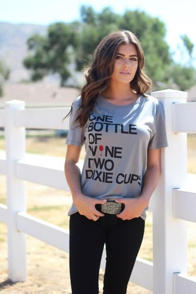 Bottle of Wine Tee – License to Boot