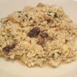 Creamy Mushroom risotto...made with califlower rice....