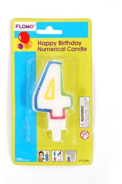 Wholesale 4 Birthday Candle Case Of 36