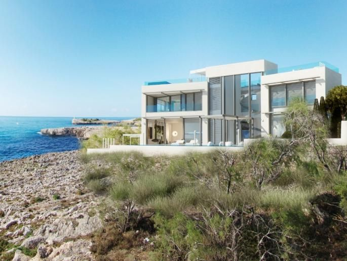 Elite minimalist house for sale in sea front location in for Minimalist homes for sale