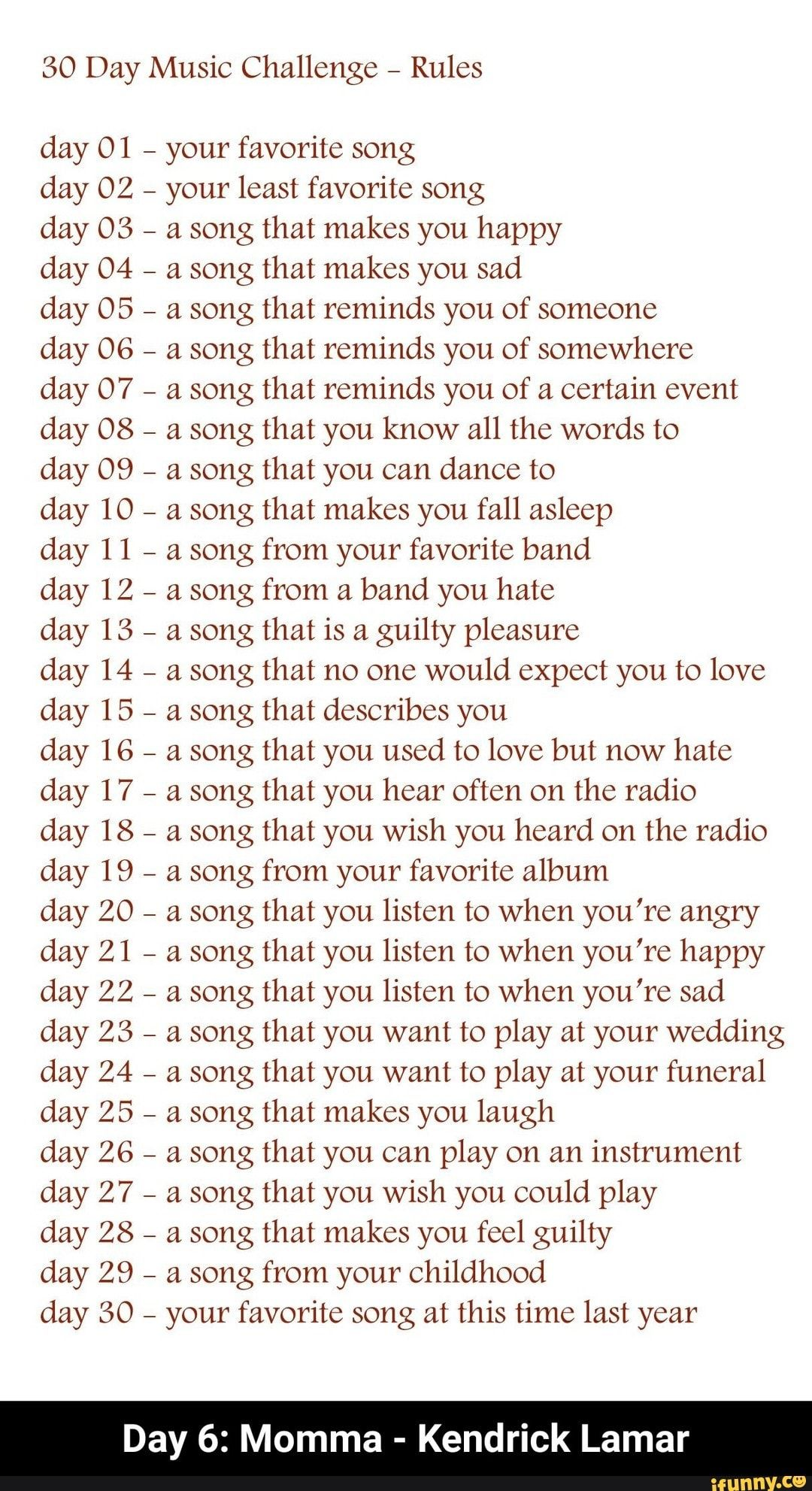 Day 6 Momma Kendrick Lamar Ifunny Music Challenge Kendrick Lamar 30 Day Music Challenge