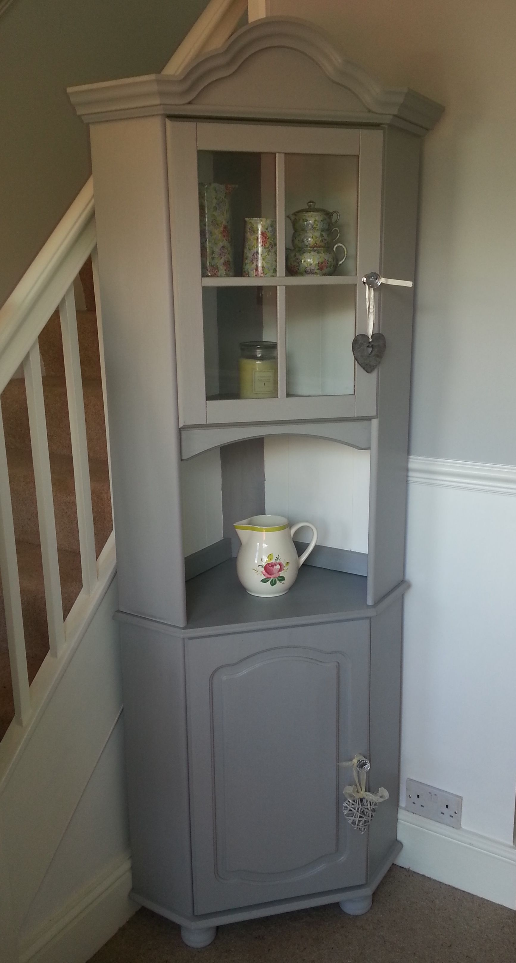 A Pine Corner Unit Lovingly Transformed With Grey And