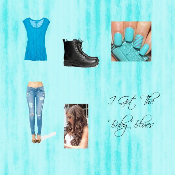 """I Got The Baby Blues.."" by cassidytaylor14 on Polyvore"