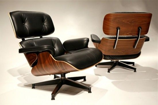 Eames Leather Lounge Chair Ottoman Chairs Living Room