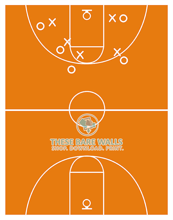 image about Basketball Court Printable identified as Basketball Court docket Print, Basketball Decor, Sizing 8x10
