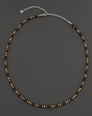 John Hardy Men's Classic Chain Bead Necklace With Black Onyx & Tiger Eye | Bloomingdale's