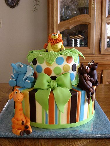 jungle baby shower cakes for a boy jungle with this beautiful