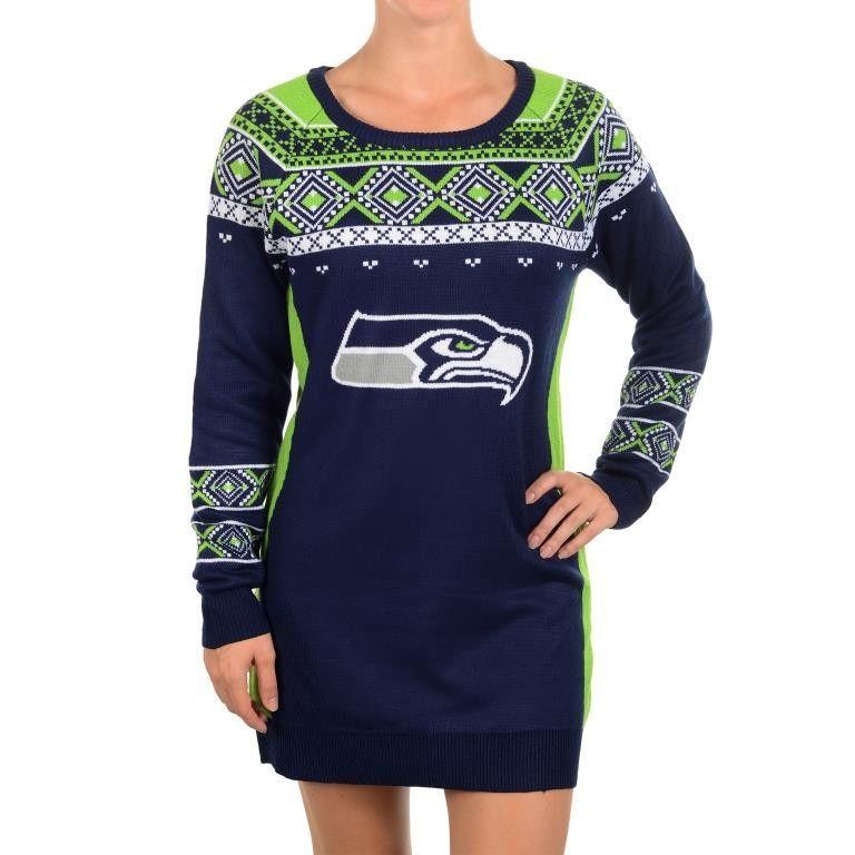 Seattle Seahawks Big Logo Sweater Dress