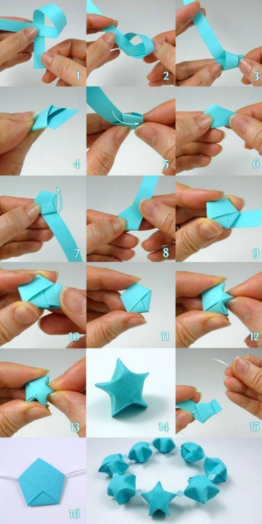 Photo of In diesem Tutorial von Cecelia Louie lernen Sie, wie man gefaltete Papiersterne macht. Mehr Infos a … – DIY Papier Blog