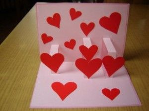 3d Pop Up Valentine S Day Card Lesson Plans Craftgossip Com Pop Up Valentine Cards Valentine Card Crafts Valentine Crafts