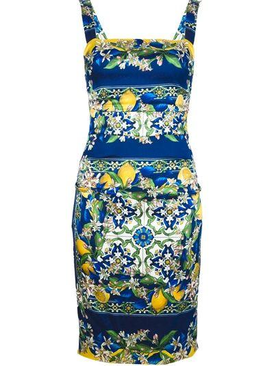 4ee6ecd8 DOLCE and GABBANA Mosaic And Lemon Print Dress want want want want  wwwwaaaannnntttt!