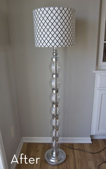 A Glam Bam Floor Lamp Makeover Floor Lamp Makeover Diy Floor Lamp Diy Lamp Makeover