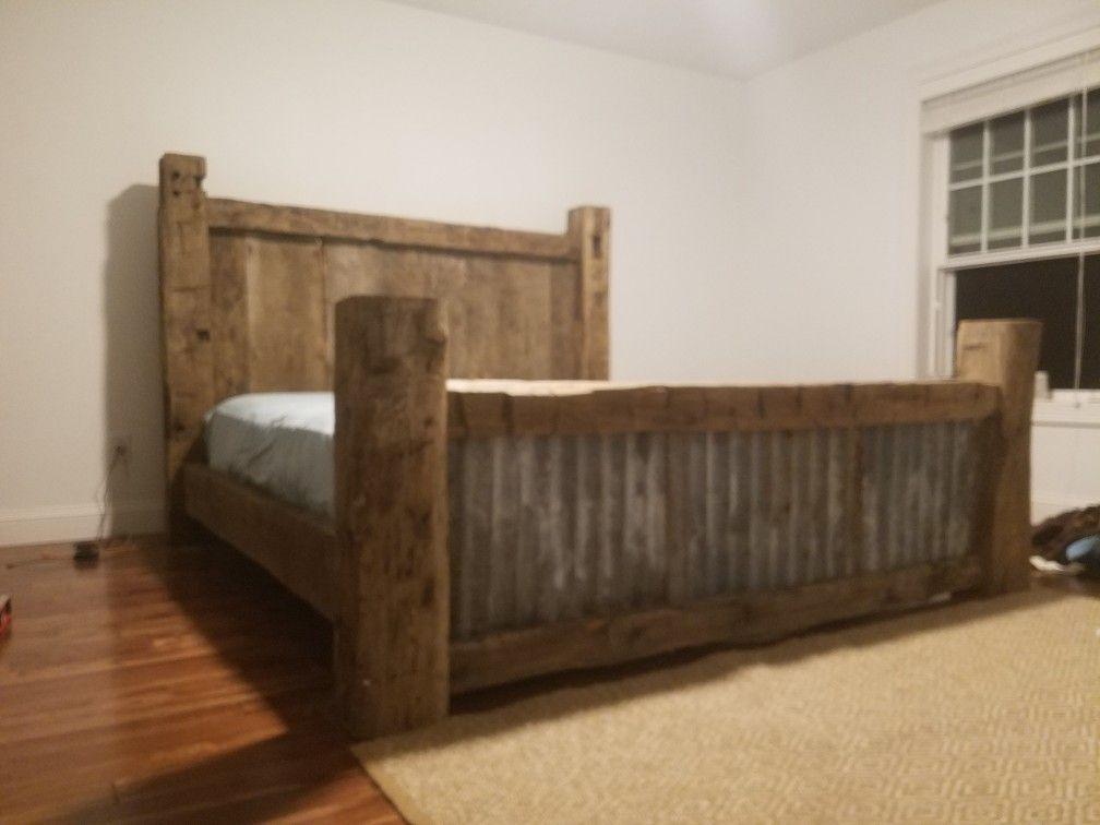 Barn Wood Bed Frame Wood Bed Frame Barnwood Bed Wood Bed Frame Diy