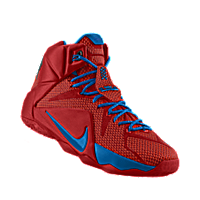 official photos 081f4 ab755 I designed the university red Nike LeBron 12 iD men s basketball shoe with  photo blue trim.