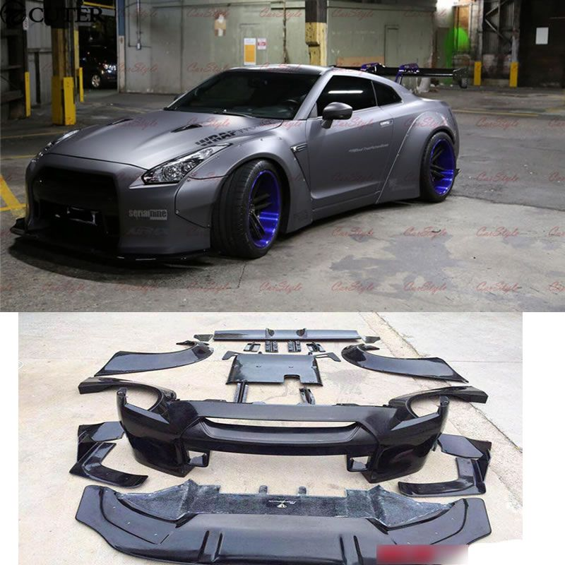 Gtr Gt R R35 Lb Car Body Kit Carbon Fiber Frp Wide Body Kit Front Bumper Rear Diffuser Spoiler For Nissan Gtr R35 09 15 Nissan Gtr Nissan Gtr R35 Audi