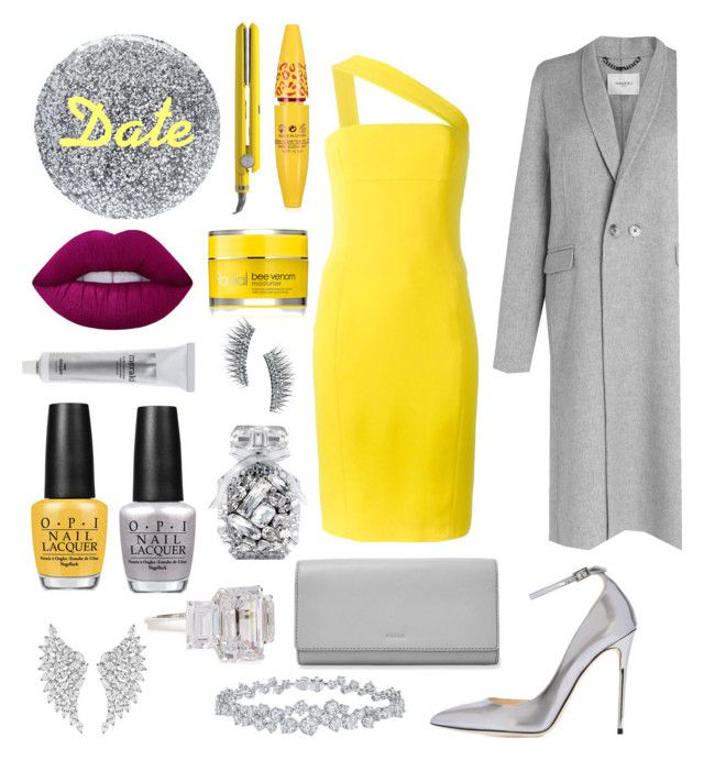 """""""I've Sunshine in a Cloudy Day"""" by nury-sg on Polyvore featuring Smith & Cult, L.K.Bennett, Jimmy Choo, FOSSIL, Harry Winston, Fantasia by DeSerio, Messika, Lime Crime, OPI and Victoria's Secret"""