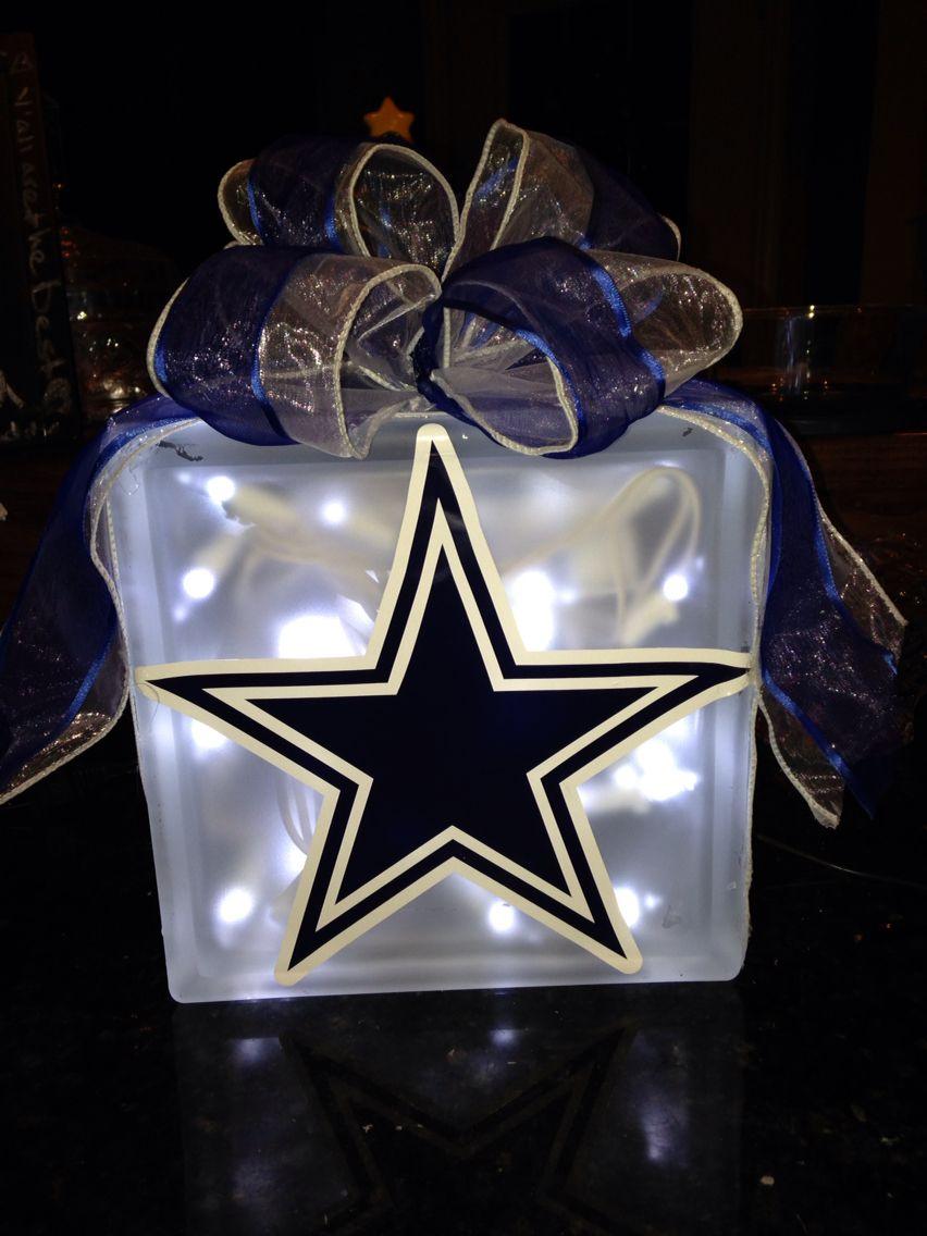 Handmade Dallas Cowboys Night Light Use A Craft Block