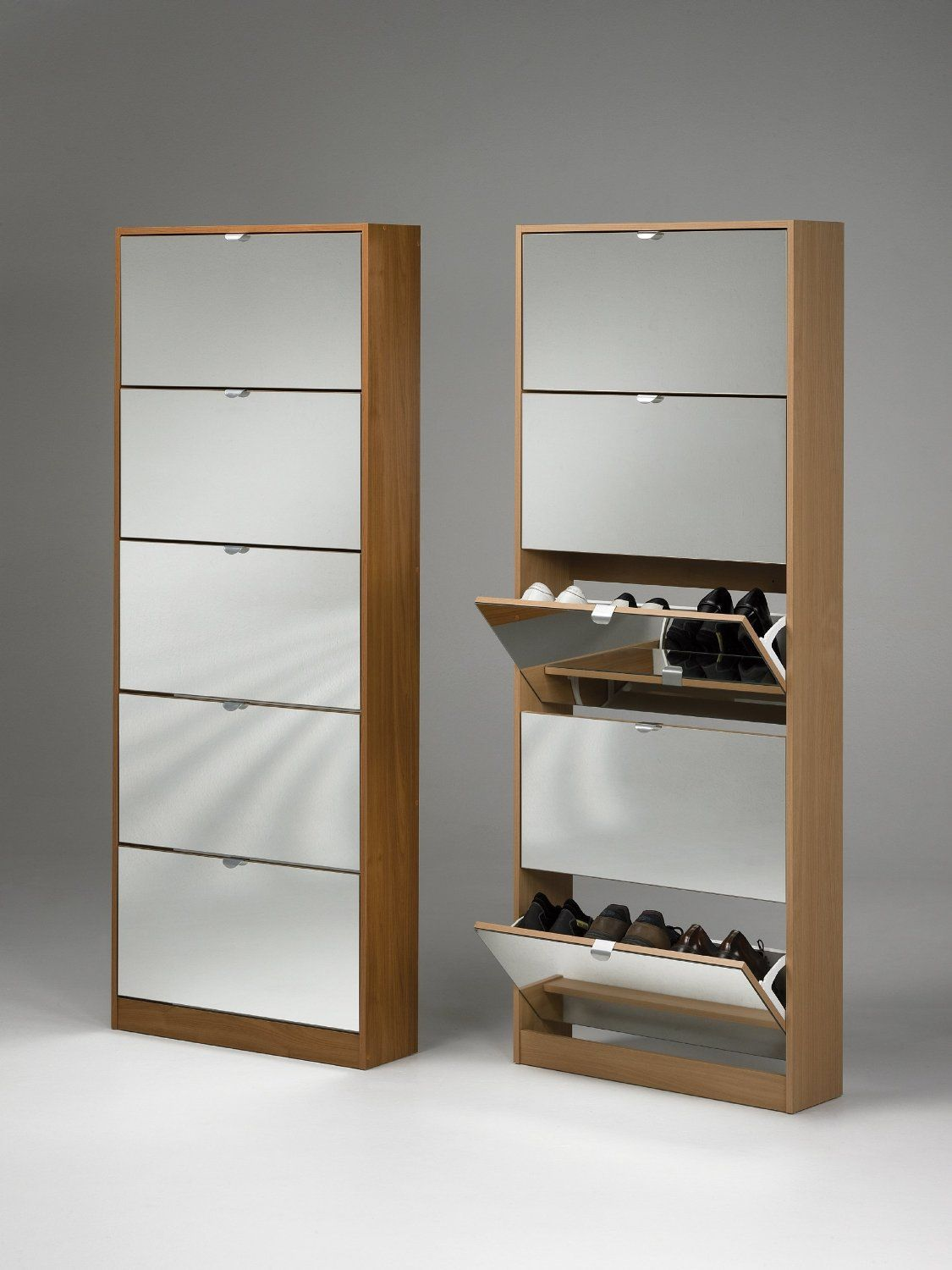 shoe furniture. tvilum springfield 4 compartment shoe storage cabinet with mirror google search furniture o