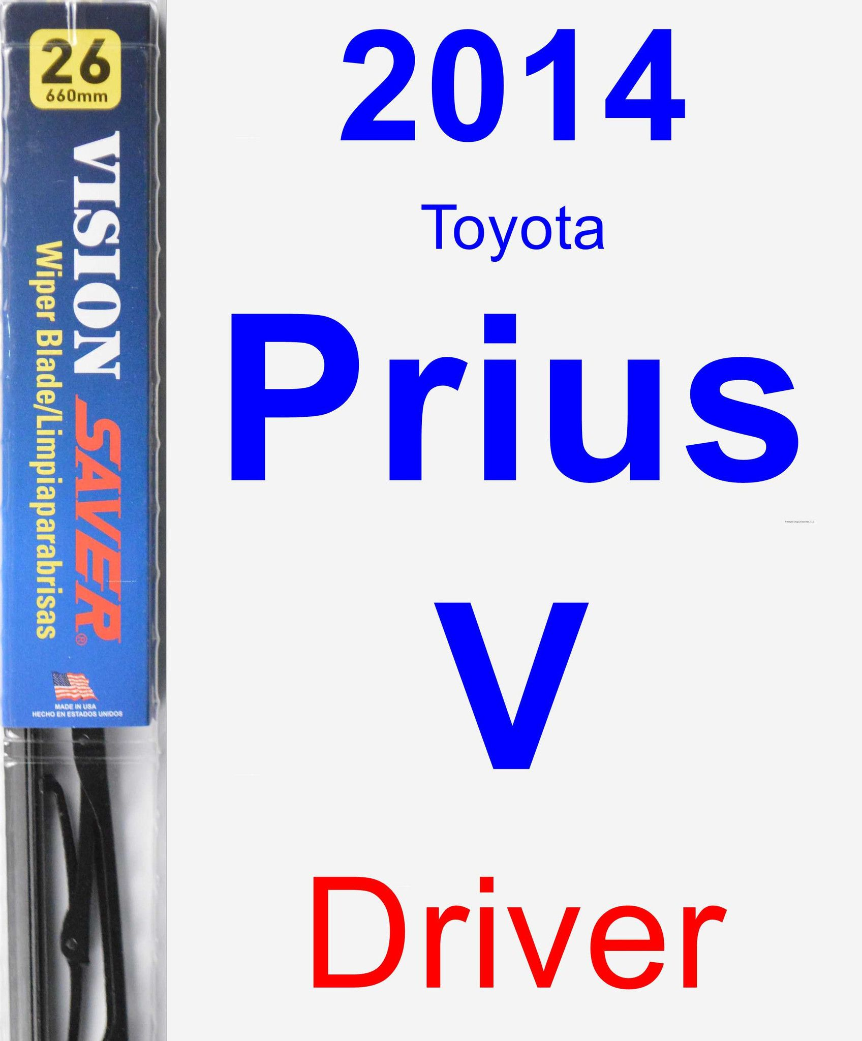 Driver Wiper Blade For 2014 Toyota Prius V Vision Saver Toyota